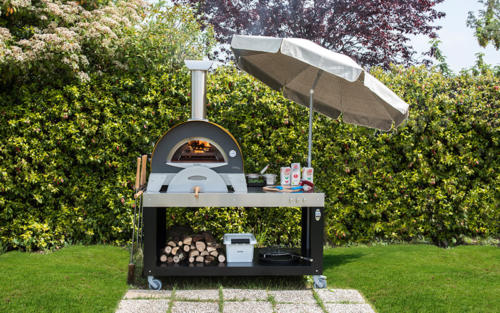 pizza oven table